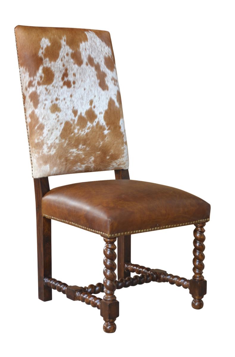 Barley Twist Cowhide Dining Chair John Proffitt