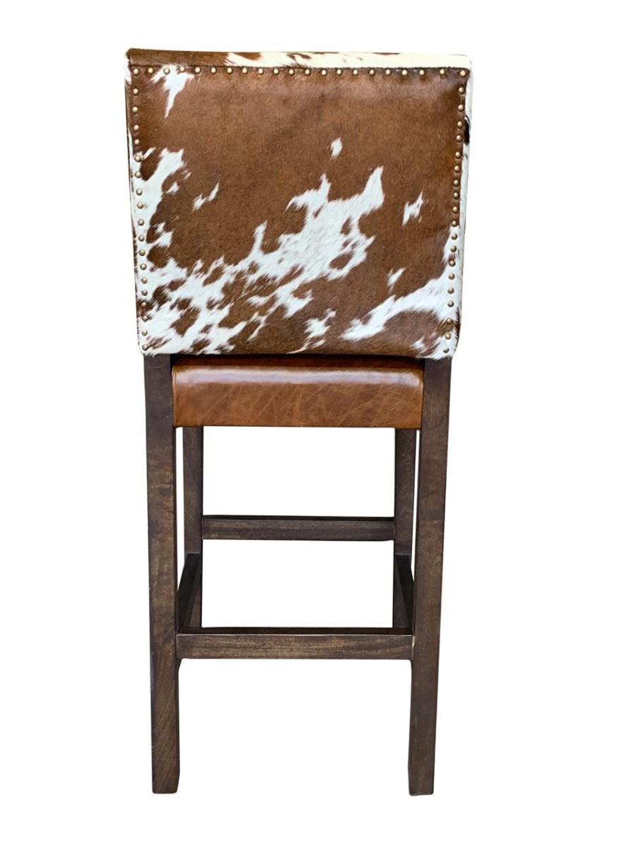 finest selection 9b5e1 ea25e Modern Cowhide Bar Stool with Back