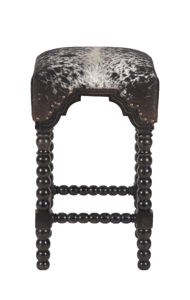 Tremendous Bobbin Leg Cowhide Bar Stool Salt Pepper Black 30 Uwap Interior Chair Design Uwaporg