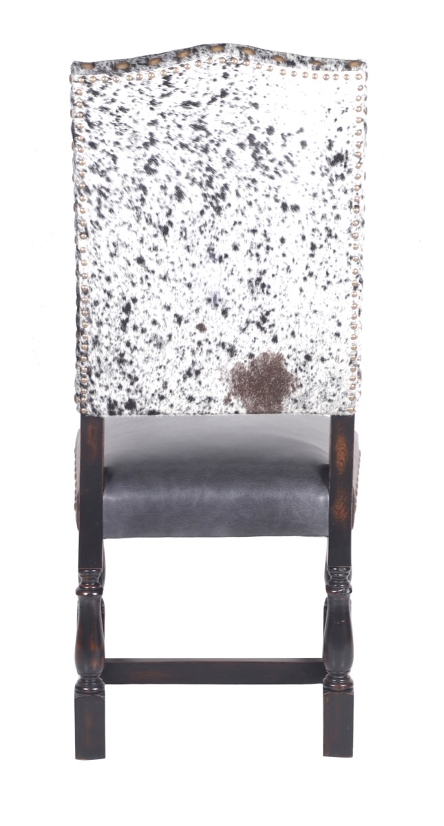 Magnificent Colton Cowhide Dining Chair Black Salt Pepper Squirreltailoven Fun Painted Chair Ideas Images Squirreltailovenorg