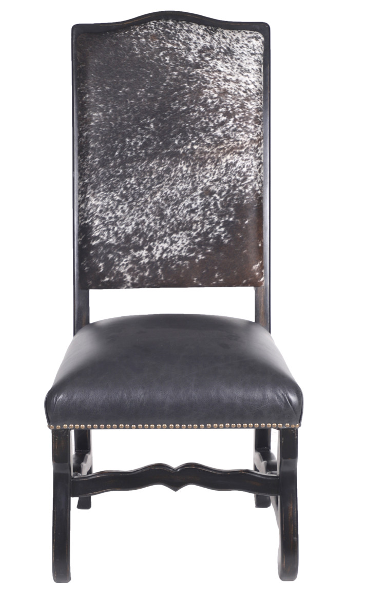 Superb Classic Cowhide Dining Chair Salt Pepper Black Squirreltailoven Fun Painted Chair Ideas Images Squirreltailovenorg